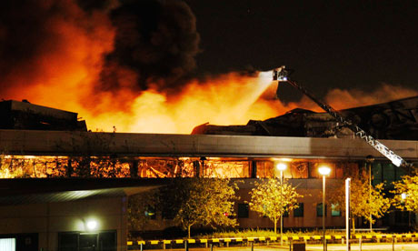 Sony Enfield Distribution Centre warehouse Fire 2011
